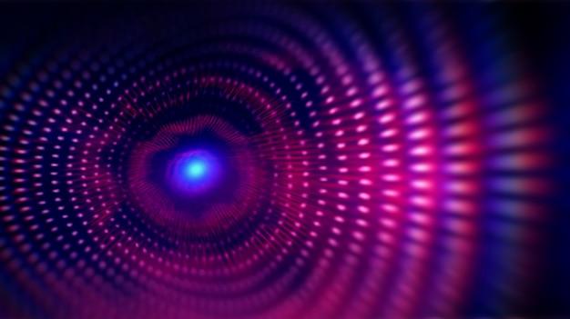Cuadrícula de puntos de onda fractal.