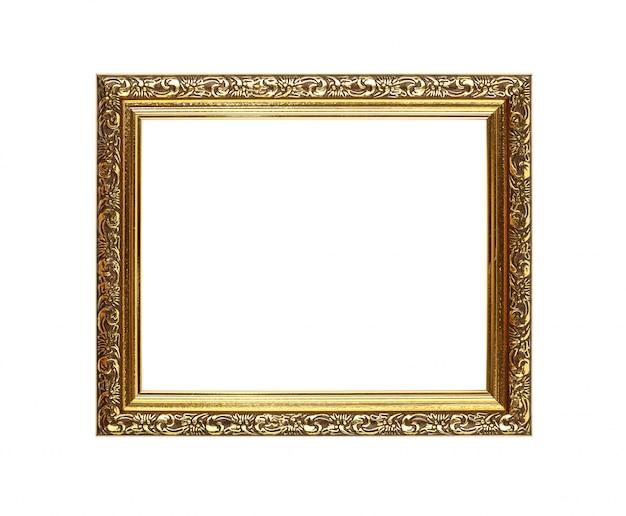 Cuadro dorado antiguo o marco de fotos