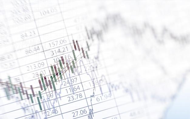 Cuadro financiero abstracto con gráfico