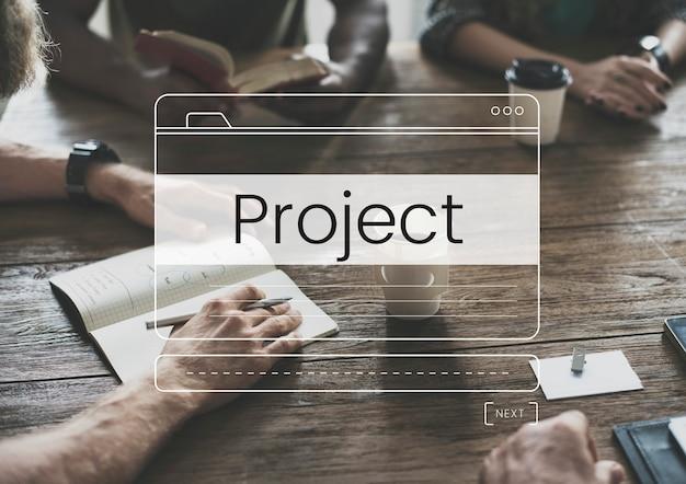 Cuadro de mensaje de desarrollo de planificación de gestión de proyectos gráfico de notificación