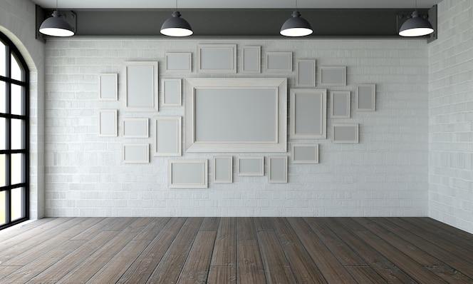 Cuarto con cuadros modernos
