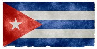 Cuba grunge bandera
