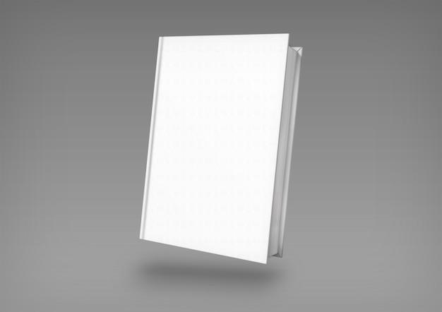Cubierta de libro blanco aislado