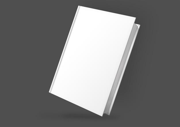 Cubierta de libro blanco en la oscuridad