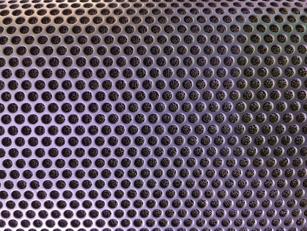 Cubierta metálica perforada del fondo del altavoz de audio