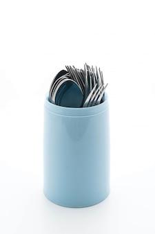 Cuchara y tenedor para cubiertos