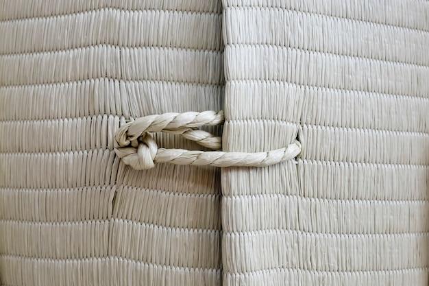 Cuerda con textura de fondo de nudo