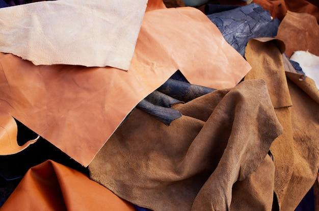 Cuero de gamuza gamuza desordenado materiales mixtos
