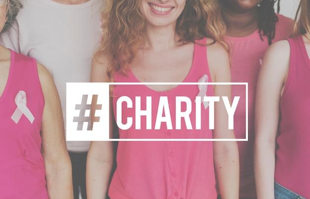 Cuidado de apoyo de caridad dando esperanza
