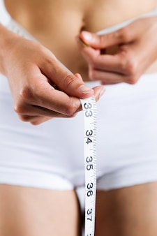 Cuidado de la belleza calorías dama blanca