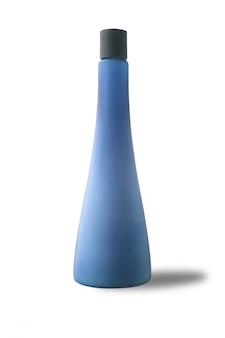 Cuidado del cuerpo de la botella limpio para publicidad, aislado sobre fondo blanco.