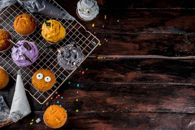Cukcakes divertidos para niños para halloween