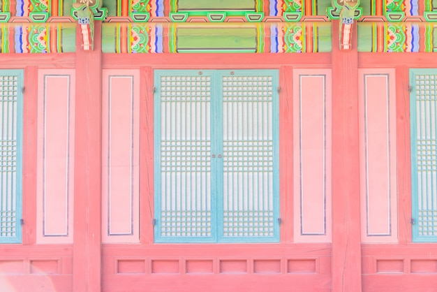 Cultura turística tradicional palacio corea