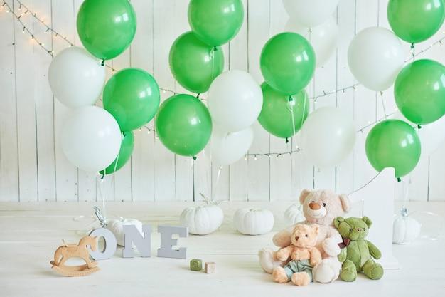 Cumpleaños 1 año cake smash decor