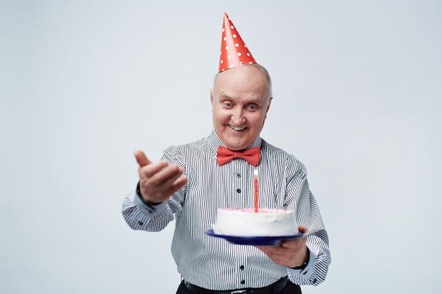 Cumpleaños celebrando senior