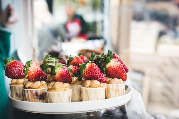 Cupacakes de fresa