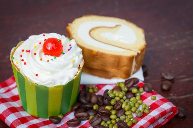 Cupcakes de desayuno, panecillos.