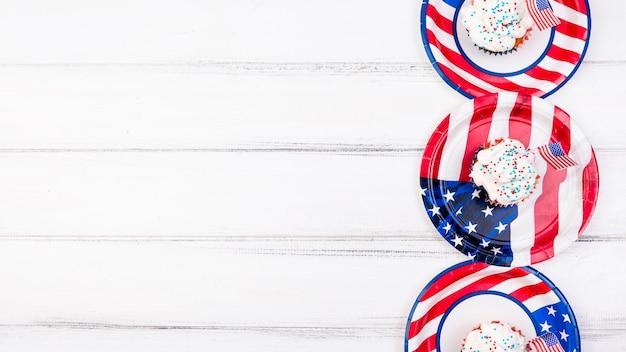Cupcakes para el día de la independencia