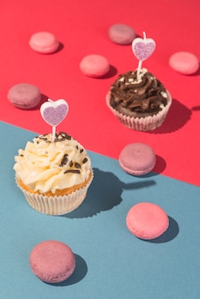 Cupcakes y macarons