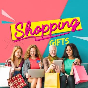 Cupón de regalo de ventas de compras en línea