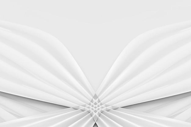 Curva blanca ligera moderna que agita el fondo de la pared del modelo de la cinta.
