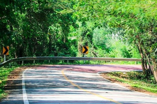 Una curva peligrosa en una carretera en la que los conductores no pueden ver el tráfico que se aproxima