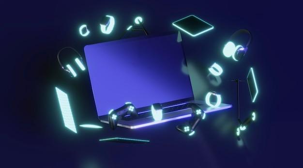 Cyber monday con fondo oscuro