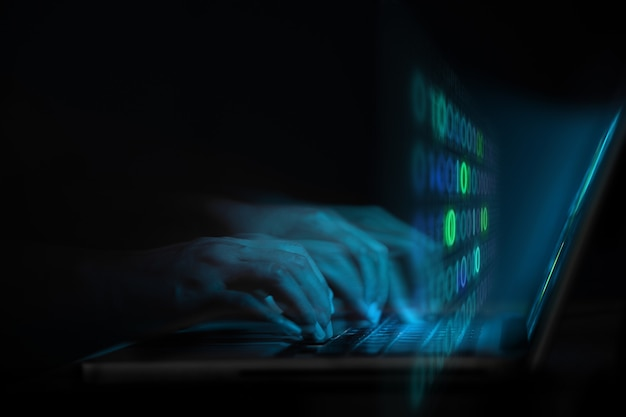 Cyber security internet threat hacking digital crime concept