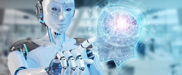 Cyborg creando inteligencia artificial