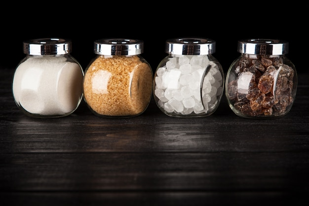 D diferentes tipos de azúcar