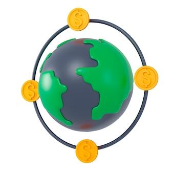D icono relacionado con dinero d ilustración