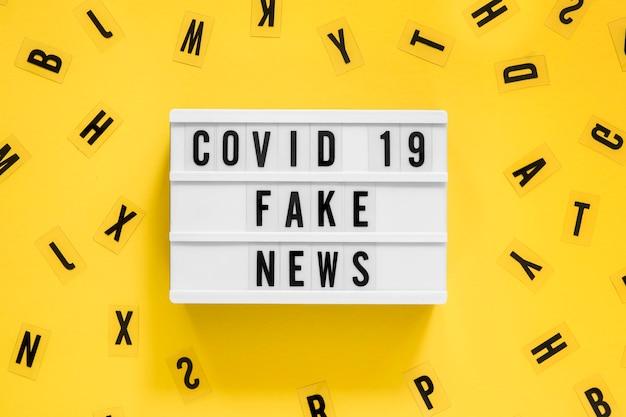 Datos falsos de la pandemia de coronavirus