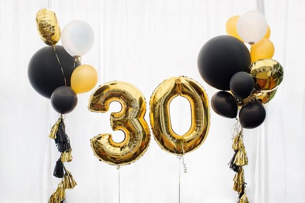 Decoración para 30 años cumpleaños, aniversario