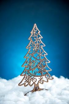 Decoración del árbol de navidad de vista frontal
