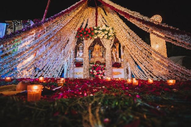 Decoración de la boda india
