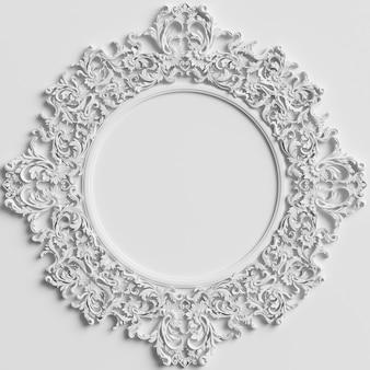Decoración clásica con adornos en la pared blanca.
