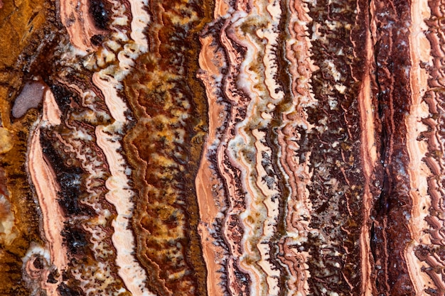 Decoración colorida de ágata mineral natural