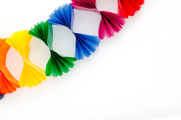 Decoración colorida para fiesta