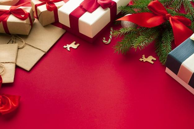 Decoración de concepto de navidad de primer plano