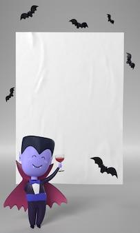 Decoración de drácula para halloween