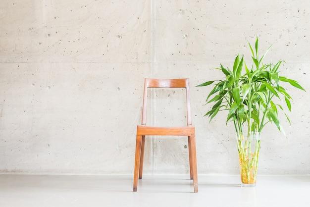 Decoración florero blanco planta contemporánea