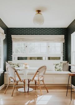 Decoración del hogar minimalista en azul y blanco