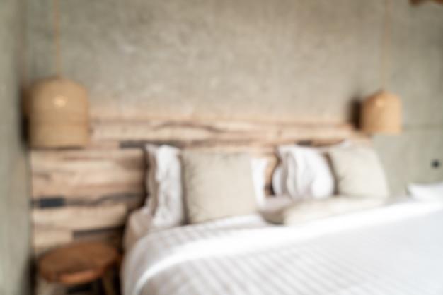 Decoración interior de dormitorio borrosa