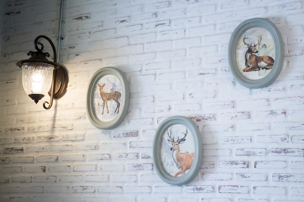 Decoración de interiores de la casa de campo vintage