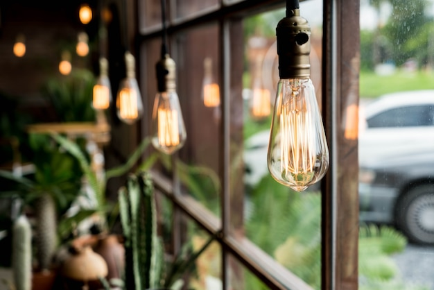 Decoración de lámpara de luz hermosa