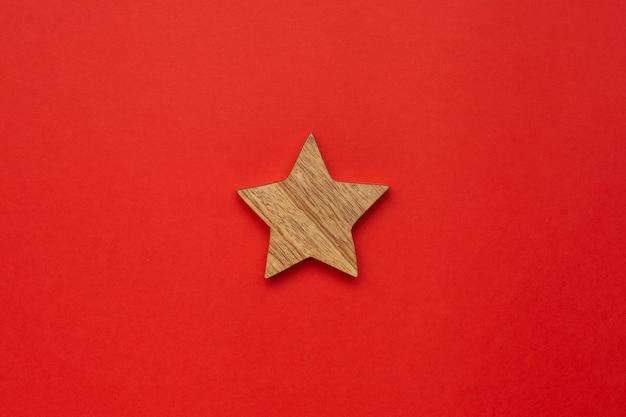 Decoración de madera estrella para navidad