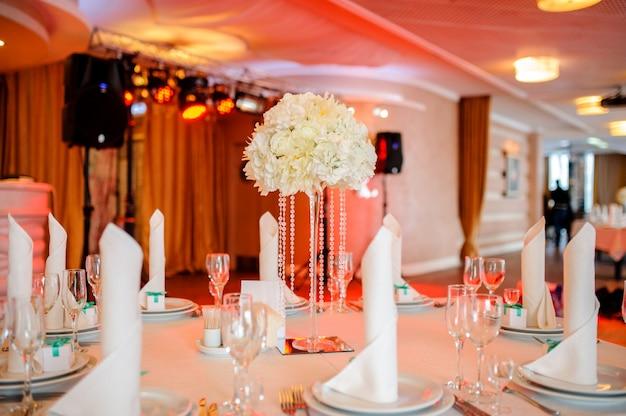 Decoración de la mesa de boda