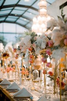 Decoración de mesa de boda