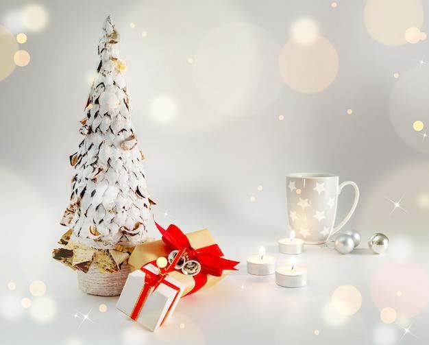 Decoración de mesa navideña