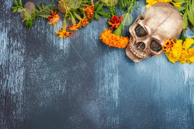 Decoración mexicana del día de los muertos